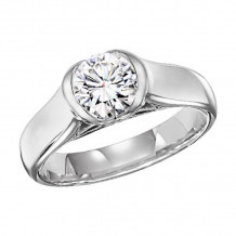 Lieberfarb Platinum Solitaire Engagement Ring - ED70763