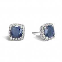 John Hardy Classic Chain Collection Magic Blue Sapphire Diamond Stud Earrings - EBS971551BSPDI