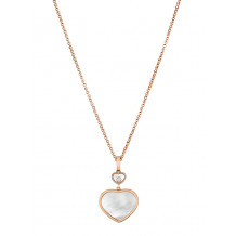 Chopard Happy Hearts Rose Gold MOP Heart Pendant - 17237