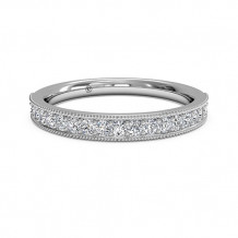 Ritani Women's Diamond Milgrain Wedding Band - 21697