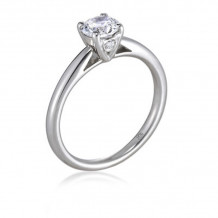 Lieberfarb Platinum Solitaire Engagement Ring - ED71017